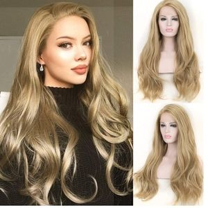 Dark Ash Blonde Lace Front Wig